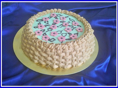 HOW TO MAKE BASKET CAKE. tort koszyk