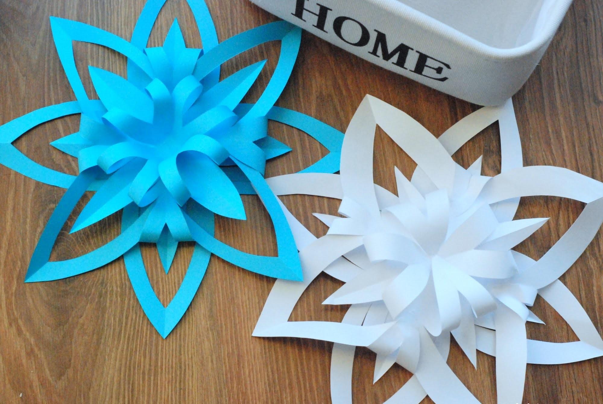 Jak zrobić trójwymiarową śnieżynkę z papieru. How to make a 3D Paper Snowflake