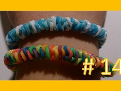 LEKCJA #14 - Gumki Rainbow Loom - MatyldaTV - bransoletki z gumek - zimowa przeplatanka #2