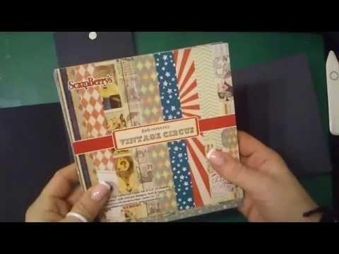 FOLIO MINI ALBUM, TUTORIAL, SCRAPBOOKING, DIY