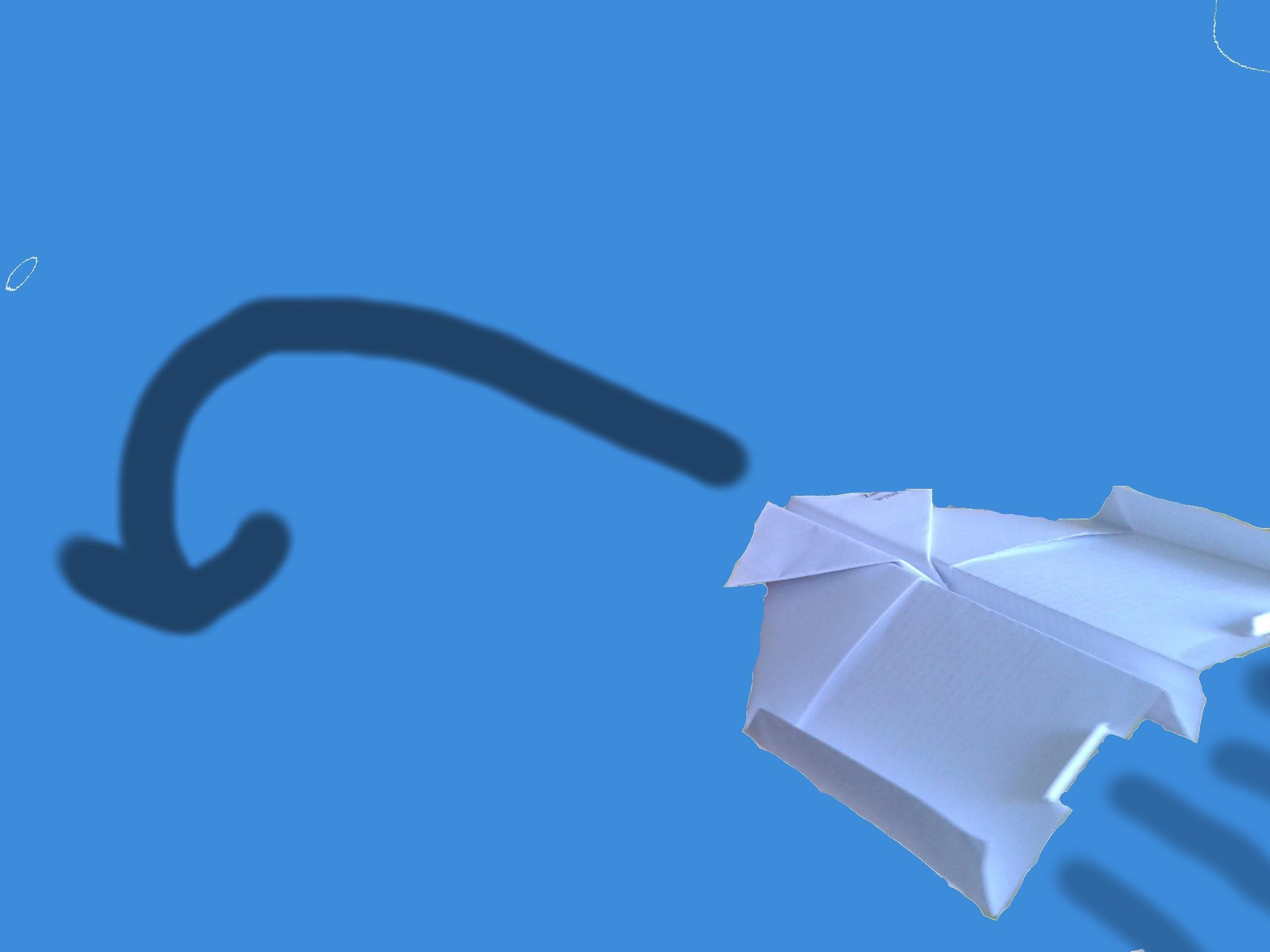 Origami samolot zawracający airplane