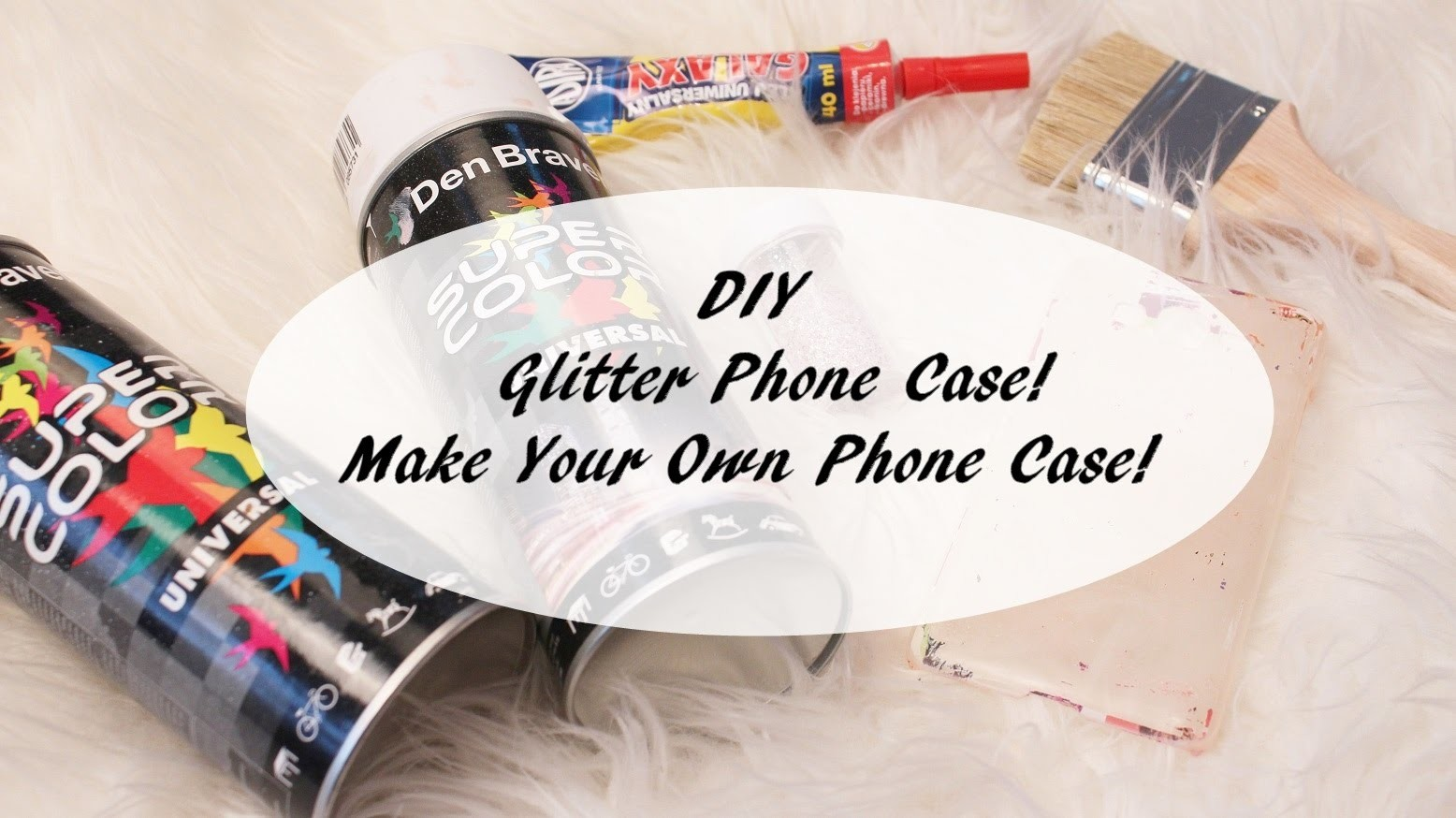 DIY  Glitter Phone Case! | Make Your Own Phone Case! | Cheap & Easy To Make! [AnnaKoper]