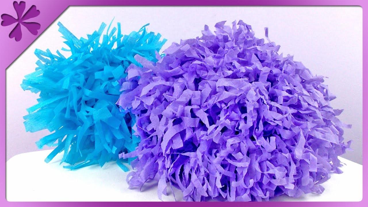 DIY Pompony z bibuły. Tissue paper pompom (+ENG Subtitles) - Na szybko #132