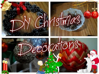 VLOGMAS#5|DIY Christmas Decorations ❄