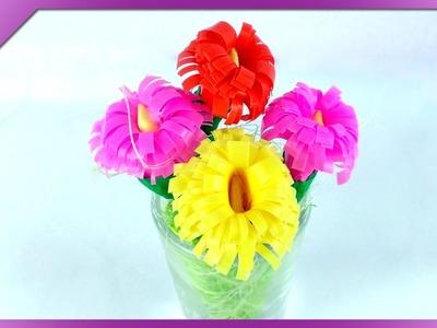 DIY Kwiatki ze słomek. Straw flowers (+ENG Subtitles) - Na szybko #125