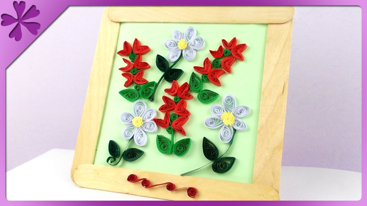 DIY Obrazek, quilling. Quilling picture (+ENG Subtitles) - Na szybko #124