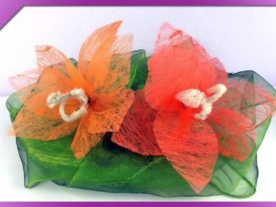 DIY Kwiaty z flizeliny. Vilene flowers (+ENG Subtitles) - Na szybko #108