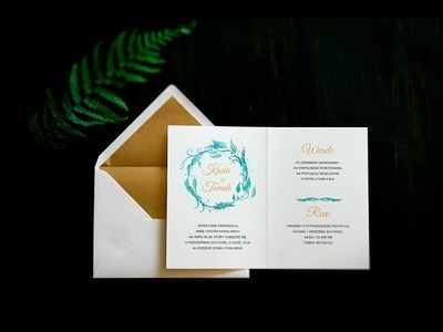 [DIY] Ślub inspirowany lasem - zaproszenia do wydrukowania