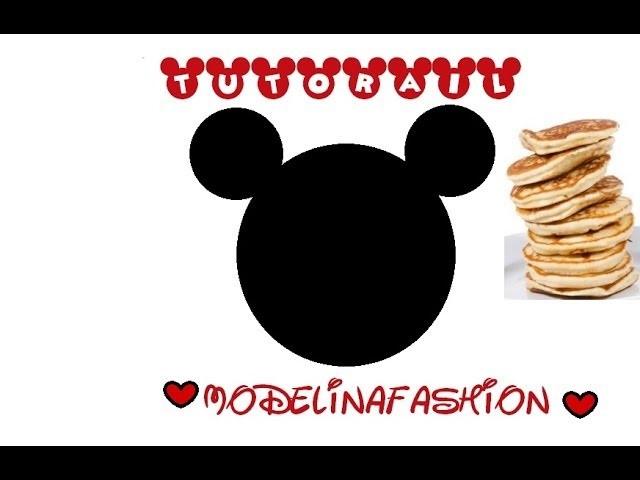 ºoºNaleśnik na słono-Myszka Mikiºoº♥TUTORIAL♥.Pancake Mickey