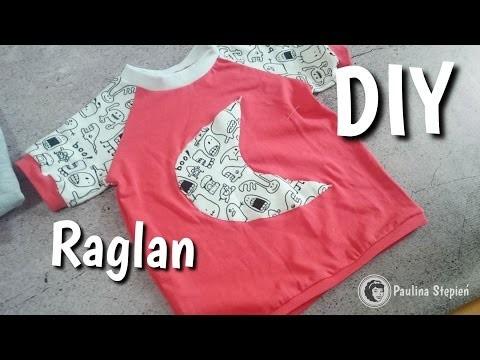 T-shirt z rękawami raglanowymi - DIY | Raglan sleeve DIY