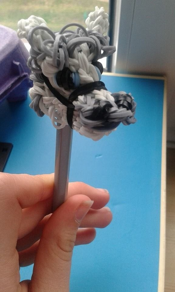 Rainbow Loom - głowa konia na ołówek :)