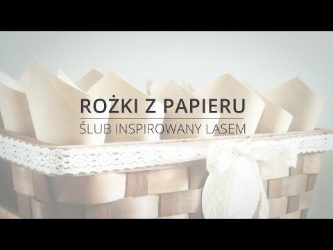 [DIY] Ślub inspirowany lasem - rożki z papieru