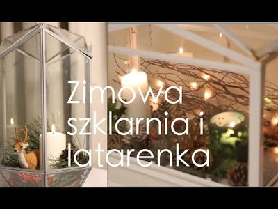 DIY Zimowy lampion, czyli pomysł na świąteczny stroik | szklarenka