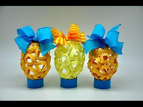Pisanka z papieru . Egg crafts DIY