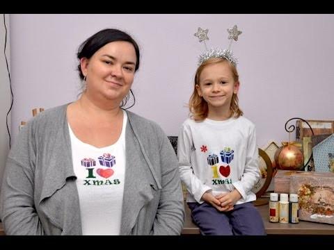 Zrób to sam - ozdabianie koszulek świątecznych z dzieckiem DIY