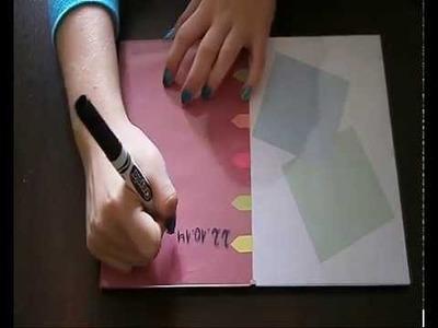 DIY:Tablica do notatek :) (pierwszy filmik).