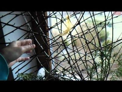 Eko dekoracje z kryz brzozy i wierzby-DIY