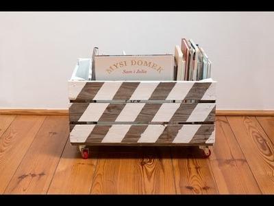 Stylowa skrzynka na książki DIY. Przedstawia Dom z pomysłem
