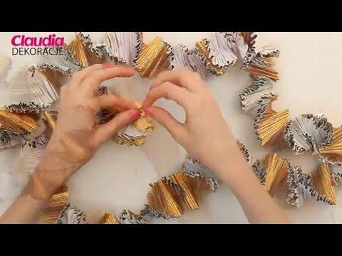 Dekoracje sylwestrowe DIY - hawajska girlanda