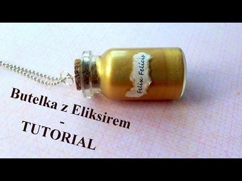 Jak zrobic naszyjnik buteleczka - tutorial harry potter - eliksir Felix Felicis - DIY