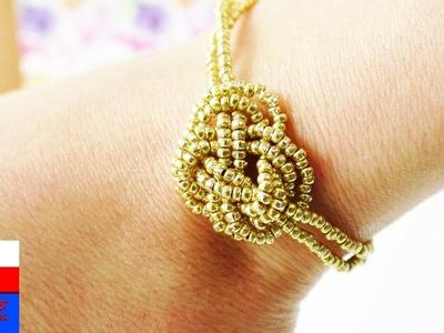 Barnsoletka DIY | biżuteria na lato | złota bransoletka w stylu Ethno, Indie, Boho & Coachella