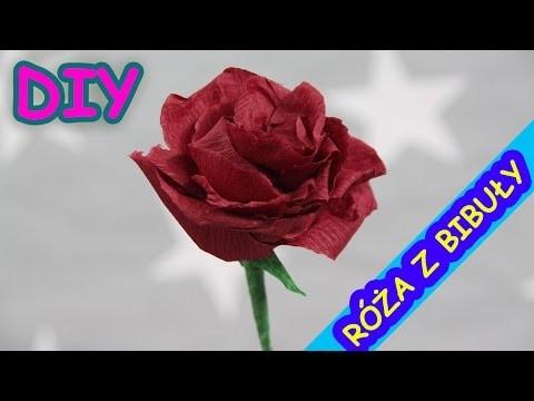 DIY - Paper Arts. Sztuka z Papieru - Rose of Paper. Róża z Bibuły - Creative Fun