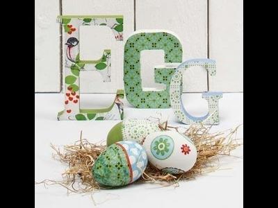 Wielkanocne dekoracje decoupage - tutorial DIY