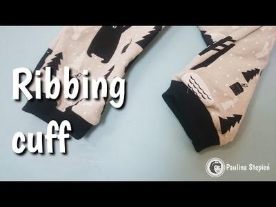 Jak wszyć ściągacz do rękawów i nogawek | sleeve ribbing cuff DIY
