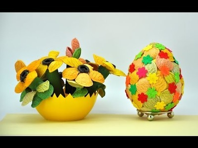 Pisanka z makaronu  krok po kroku # Egg crafts DIY