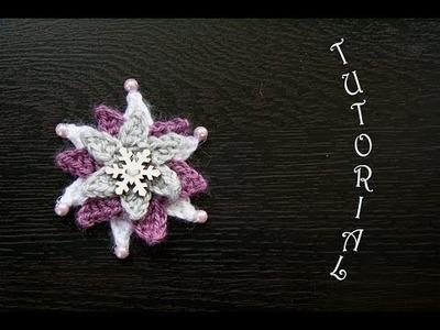Gwiazda na szydełku. Świąteczna ozdoba. Crochet star, christmas decoration.