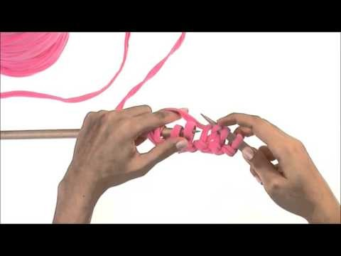 Bobbiny - oczka prawe na drutach.how to knit stitches