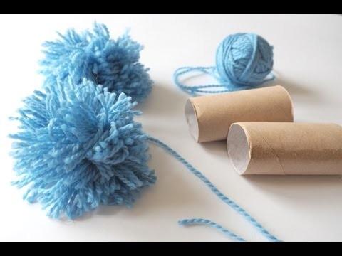 Jak zrobić pompon z włóczki? Łatwy sposób dla dzieci. How to make yarn Pom Poms