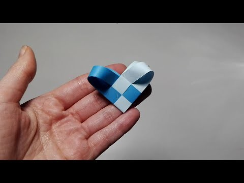 Jak zrobić Serce z pasków papieru. How to make a Heart from strips of paper