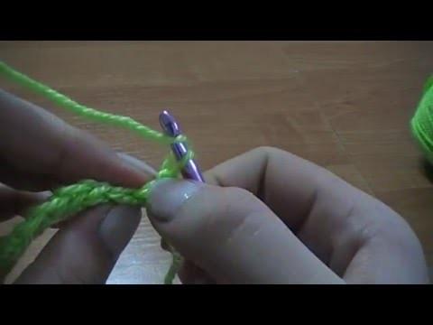 No 03# Półsłupek nawijany - half single crochet - krok po kroku