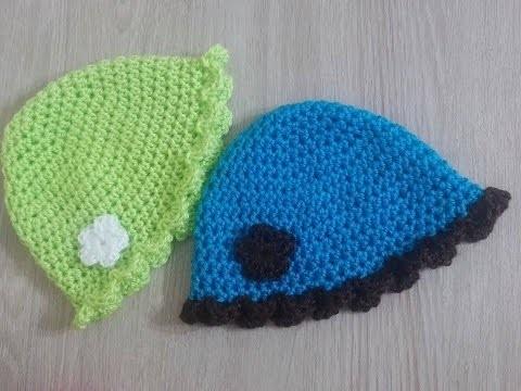 No 08# czapeczka na szydełku 0-3 miesięcy- cap on the crochet 0-3 months