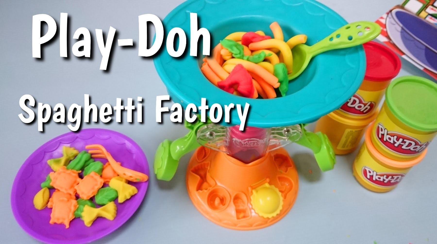 Fabryka spaghetti Play-Doh Spaghetti Factory   How to Make Play-Doh Pasta
