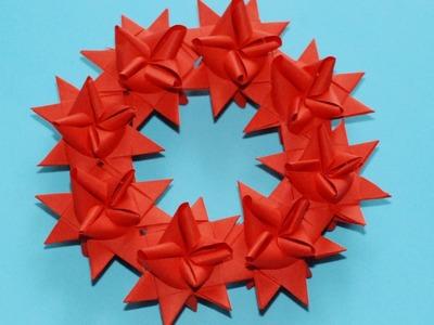 Jak zrobić Wieniec z Gwiazdek Froebla. How to make a Froebel Star Wreath