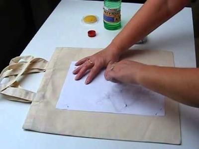 DIY- transfer czarno białego druku na tkaninie