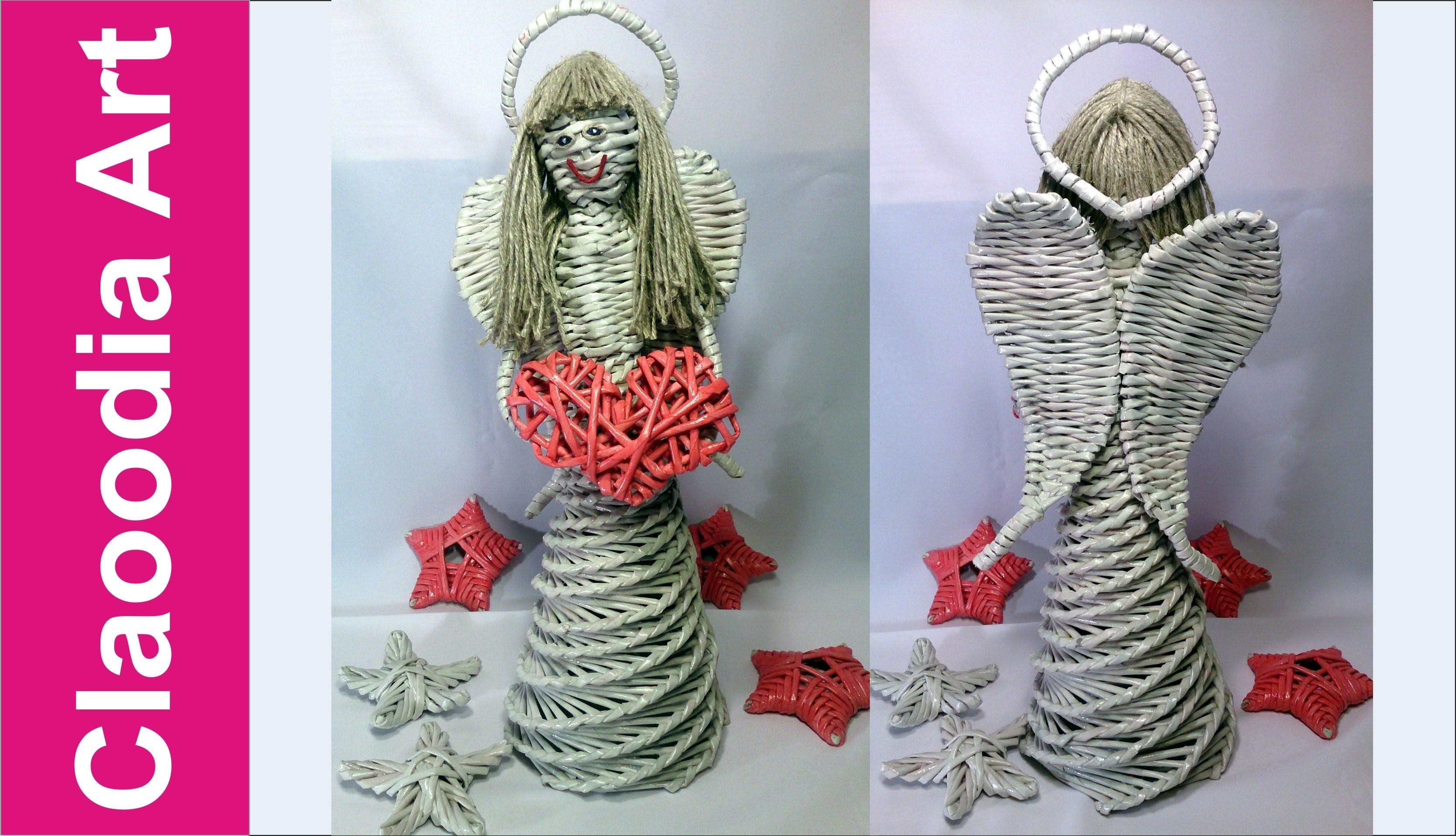 Anioł z papierowej wikliny (angel, wicker paper)