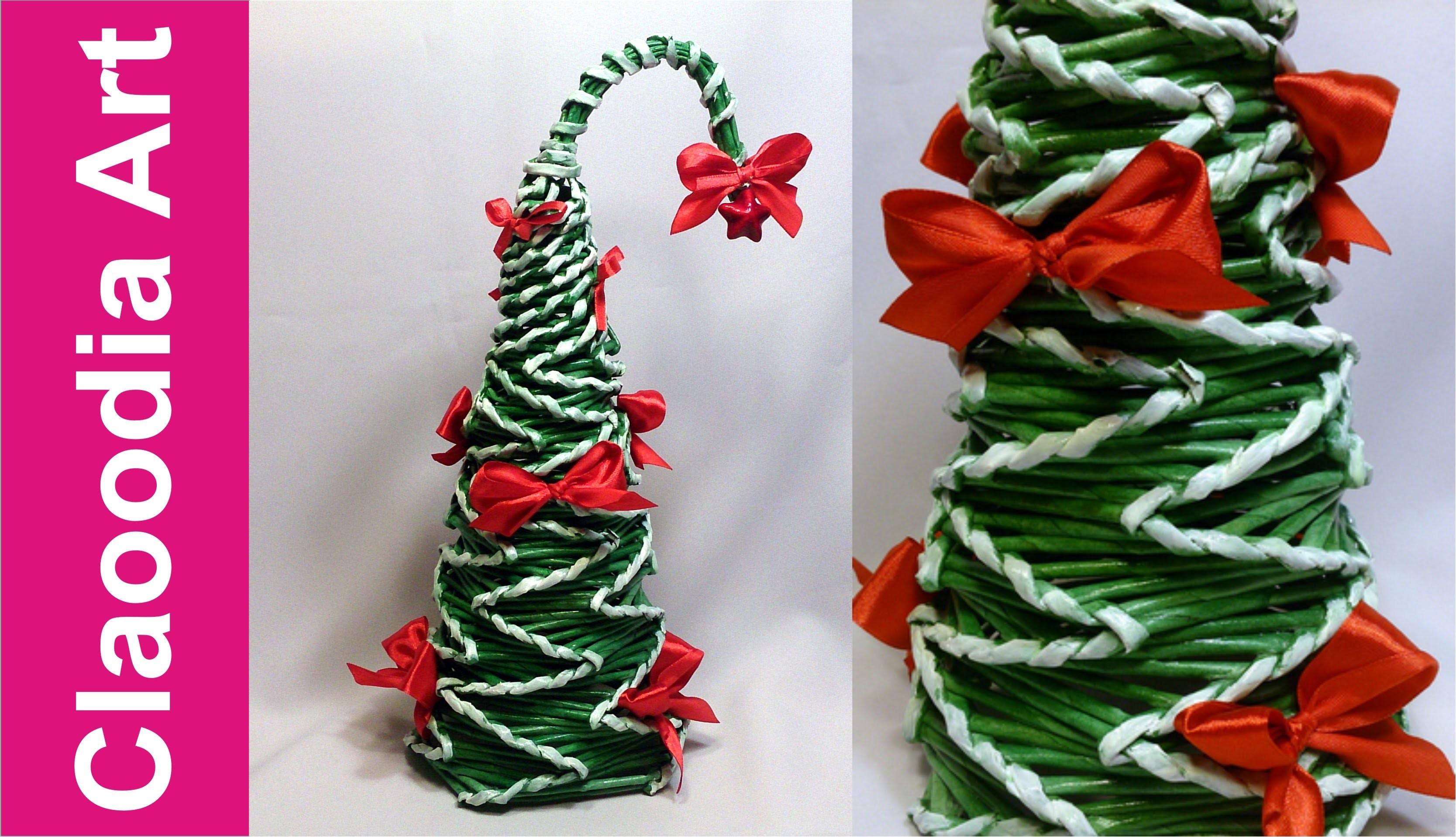 Choinka ZYGZAK z papierowej wikliny (Christmas tree, paper wicker)