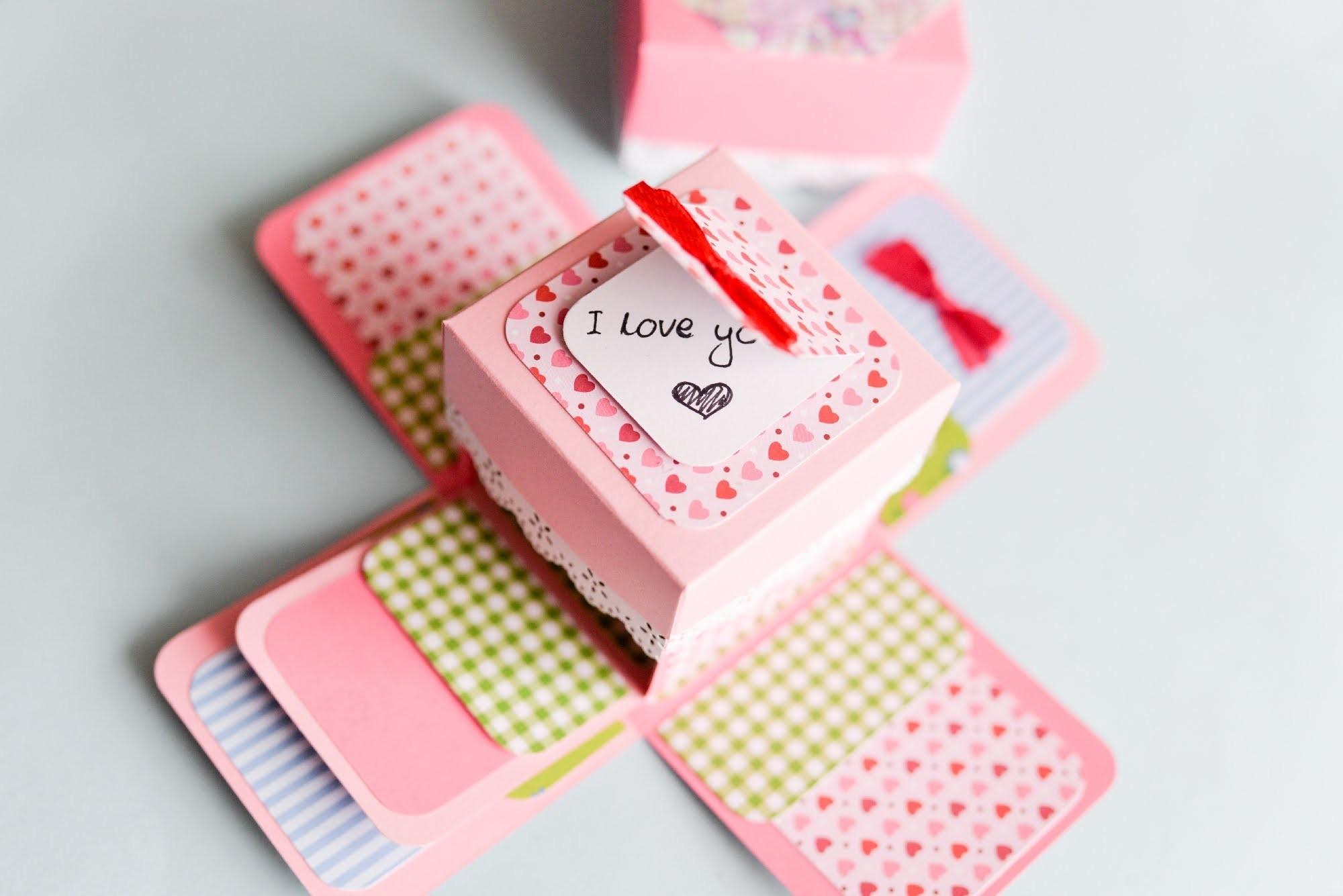 How to Make - Surprise Box Proposal Engagement - Step by Step | Eksplodujące Pudełko Oświadczyny