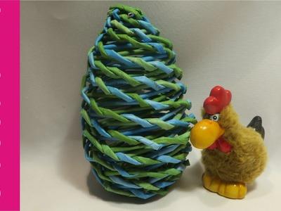 Jajko z papierowej wikliny (egg, wicker paper)
