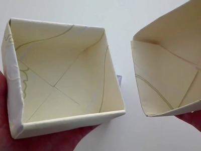 Jak zrobić Pudełko Prezentowe Origami. How to make an Origami Gift Box