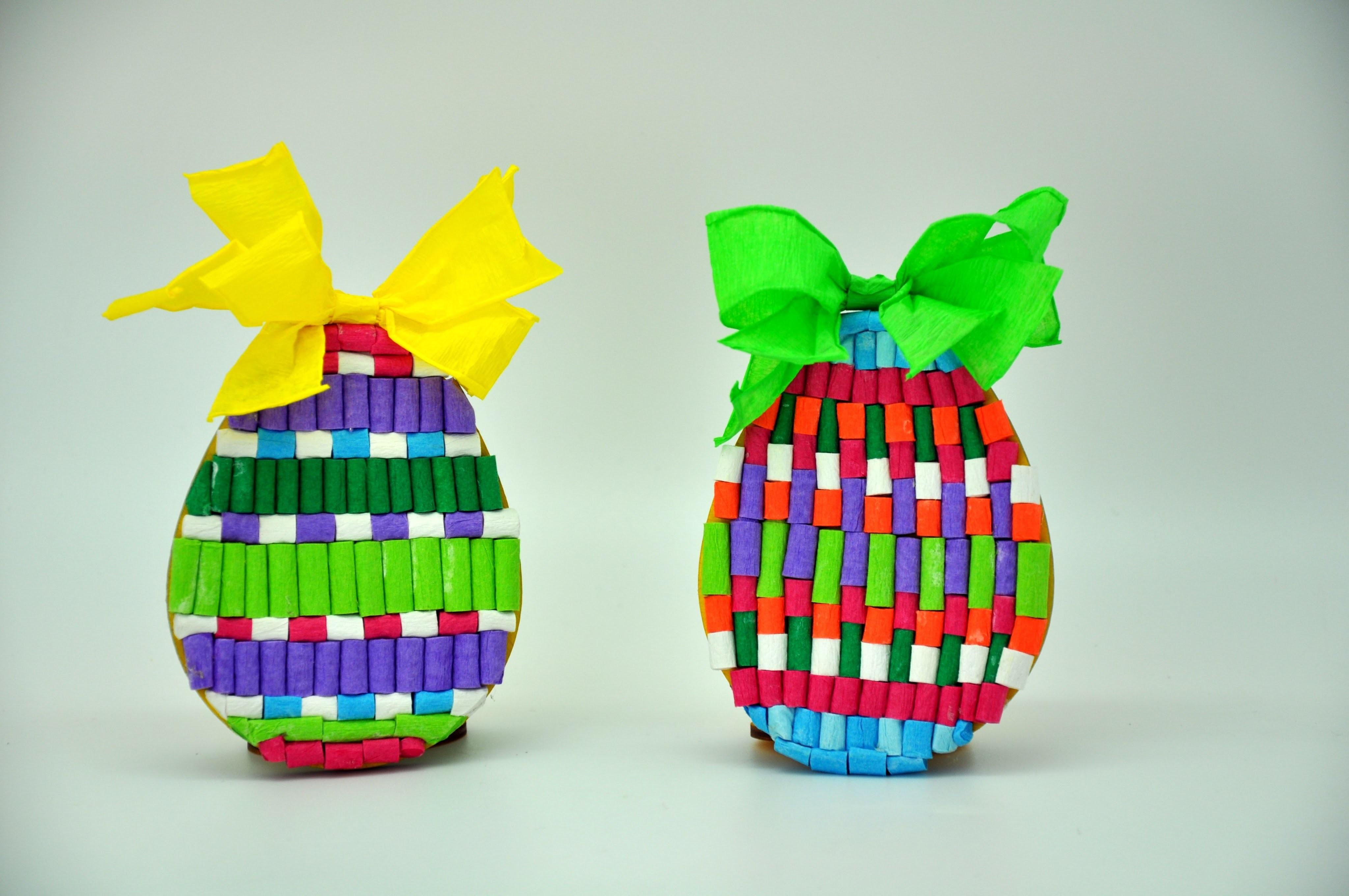 Pisanka z bibuły   krok po kroku  Easter eggs with crepe paper DIY