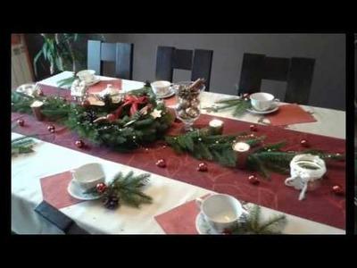DIY ,dekoracja i ozdoby stołu na Boże Narodzenie  ,jak udekorować stół