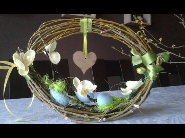 DIY jak zrobić koszyczek na Wielkanoc, wiosenne dekoracje ,Easter basket