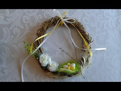 DIY jak zrobić wianek na Wielkanoc, wiosenne dekoracje