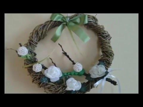 DIY jak zrobić wiosenne dekoracje wianek na wiosne i Wielkanoc ,Easter decoration