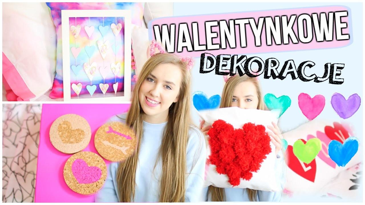 DIY walentynkowe dekoracje do pokoju.DIY Valentine's Day Room Decor
