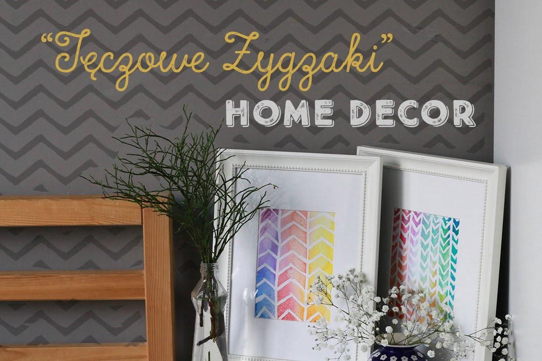 Home Decor: Tęczowe Zygzaki DIY